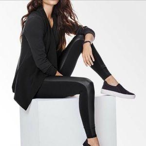 Athleta Gleam Faux Leather Front Panel Legging